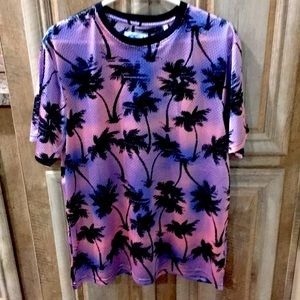 New With Tags Pink/Blue/Black Color Shirt